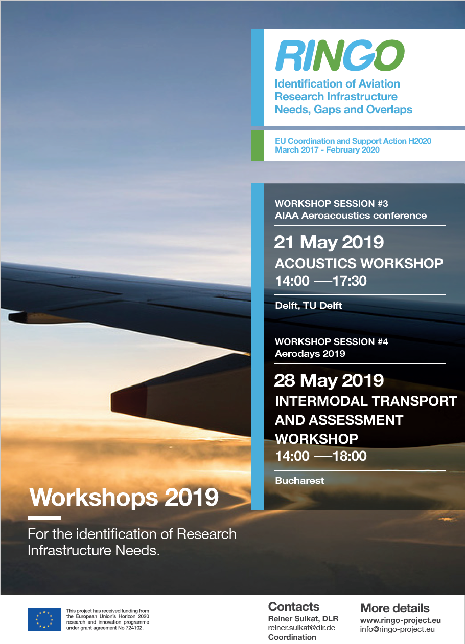RINGO workshop on aviation research infrastructures: Delft